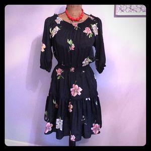 Black floral dress XSP